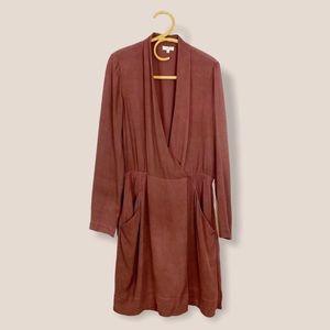 Aritzia | Wilfred |  100% Silk Wrap Dress